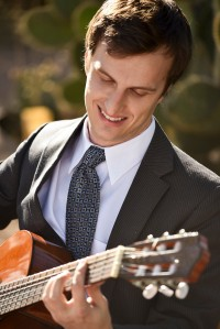 Alex Mack plays guitar at Phoenix outdoor wedding