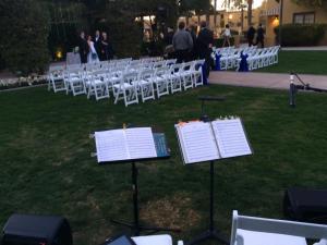 outdoor wedding musicians at the WigWam Resort in Litchfield Park, AZ