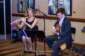 SoSco performs flute & guitar music at Phoenix Bridal Show