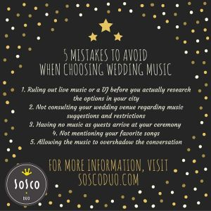 mistakes to avoid when choosing Phoenix wedding music