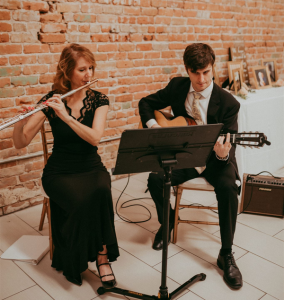 SoSco Flute & Guitar Duo plays at wedding ceremony