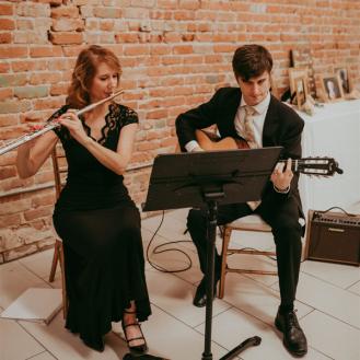 SoSco Flute & Guitar Duo plays at wedding ceremony