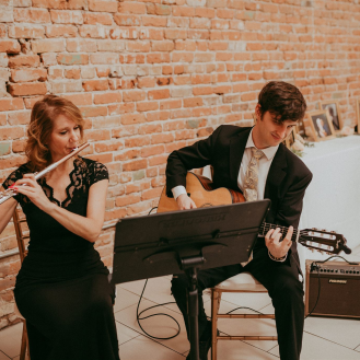 SoSco Flute & Guitar Duo plays live music for wedding in Phoenix