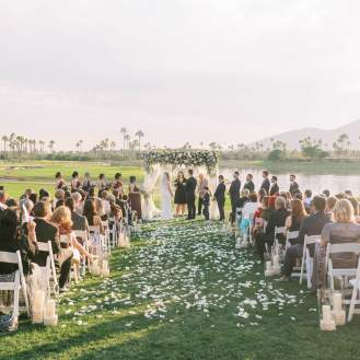 outdoor Jewish Catholic wedding Scottsdale live music